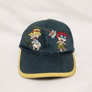 Vtg 90s Rugrats Youth Embroidered Snap Back Hat
